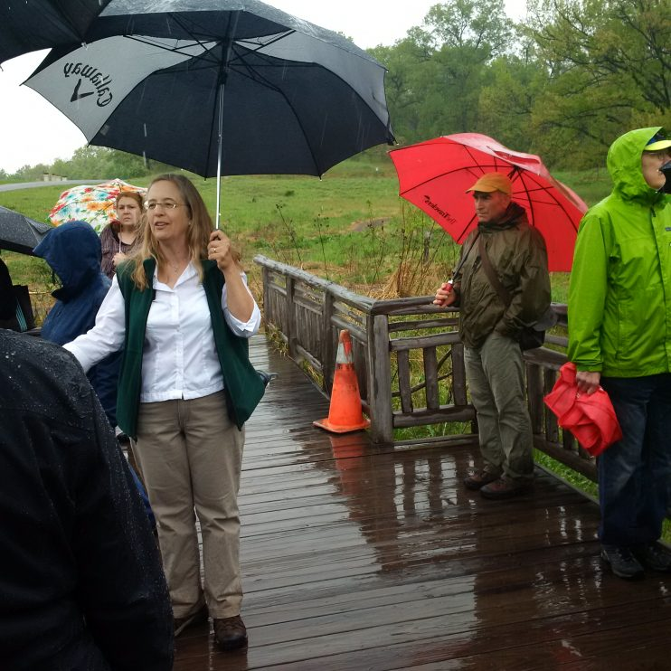 Despite some rain, attendees enjoyed walking the Arboretum's grounds while learning about sustainable landscaping.
