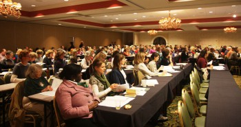 Main lecture hall at the 2011 Turning A New Leaf Conference in PA.